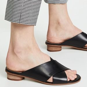 Madewell Ruthie Crisscross Mule in Leather